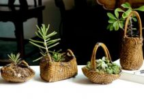 4 diseños en cestas de mimbre decoradas hermosas