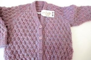Diseños bonitos en chompas tejidas para niñas a 2 agujas