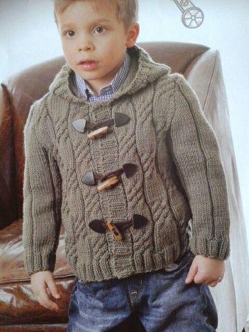 chompas tejidas para niños broches originales