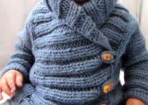 Diseños en chompas tejidas para niños con 2 agujas