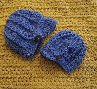 gorras para niño tejidas con visera