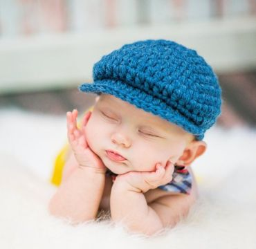 gorras para niño tejidas tipo boina