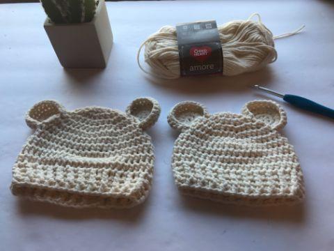 gorritas para bebe a crochet con orejas
