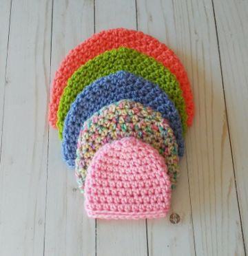 gorritas para bebe a crochet misma puntada diferente tamaño