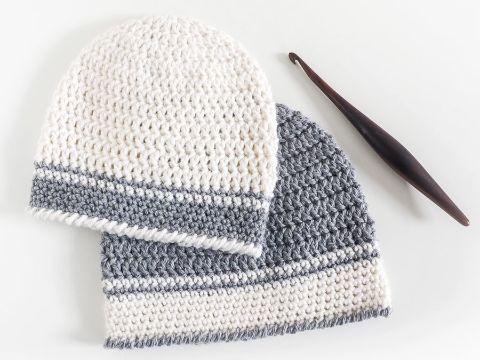 gorritas para bebe a crochet tonos