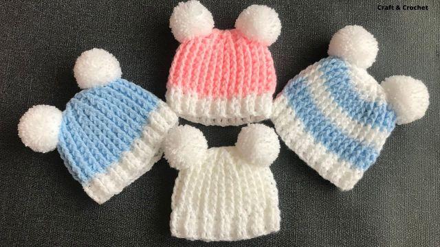 gorritos de bebe a crochet con orejas