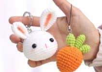 4 diseños de llaveros a crochet de animales divertidos