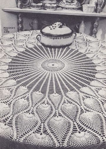 manteles de mesa a crochet puntadas caladas