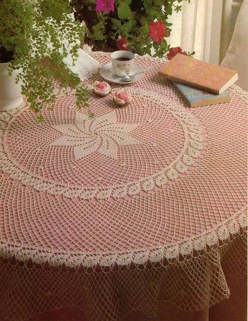 manteles de mesa a crochet redondos