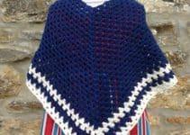 4 patrones de ponchos a crochet originales y coloridos
