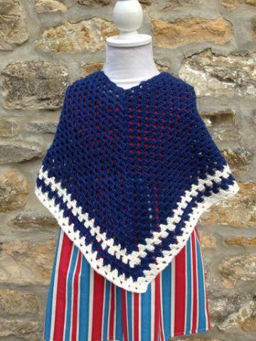 patrones de ponchos a crochet diseño para niñas