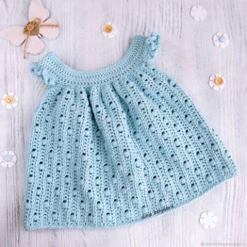 vestidos tejidos para niñas bebes