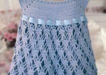 Bonitos diseños de vestidos tejidos para niñas de 4 años