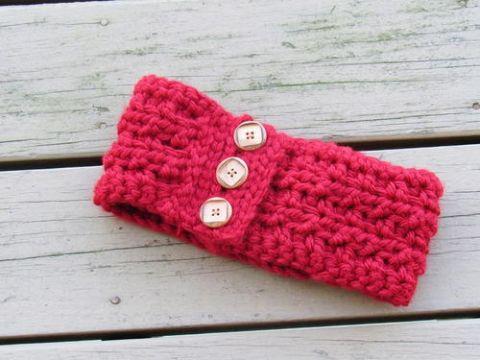 vinchas a crochet para mujer con botones