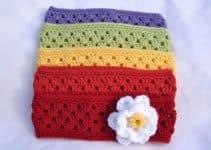 Diseños en vinchas a crochet para mujer con ganchillo 4.5 mm