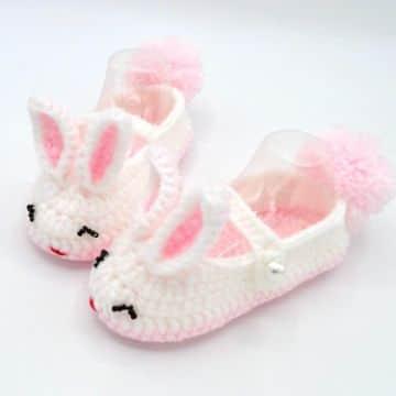 zapatos tejidos para niñas formas de animales