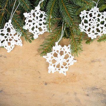 amigurumis navidad paso a paso copos de nieve crochet
