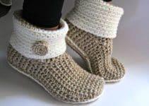 Originales botas tejidas para dama con suela 3 estilos