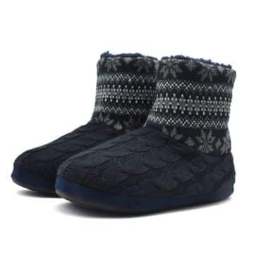 botas tejidas para dama con suela para navidad