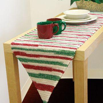 caminos de mesa tejidos a crochet franjas