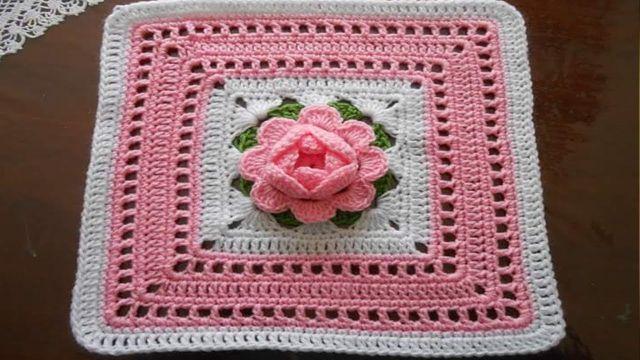 carpetas a crochet faciles cuadradas