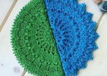 Bonitas carpetas a crochet faciles con ganchillo del 3