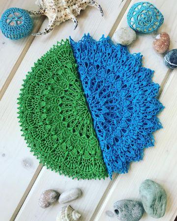 carpetas a crochet faciles de color