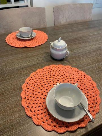 carpetas a crochet faciles manteles pequeños