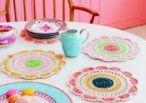 Bonitas carpetas de gancho redondas con crochet numero 4