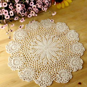 carpetas redondas a crochet pequeñas
