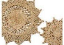 Patrones carpetas redondas a crochet decoración 2021