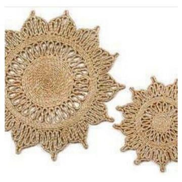 carpetas redondas a crochet soles
