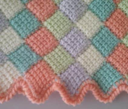 colchitas de bebe a crochet bordes originales