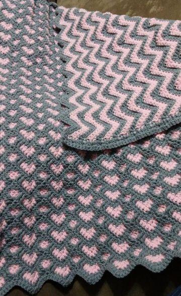 colchitas de bebe a crochet dos texturas