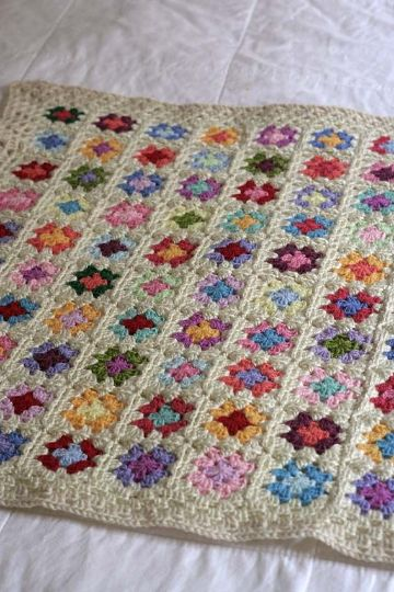 cubrecamas tejidas a crochet granny