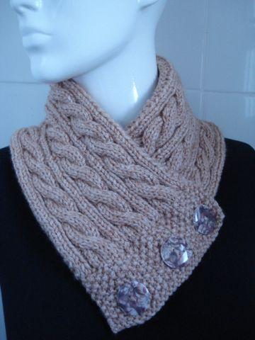 cuellos tejidos a palitos bufandas