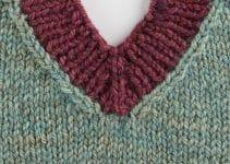 Ideas en cuellos tejidos a palitos punto elastico 3 vueltas
