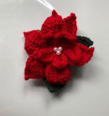 flores de navidad a crochet con petalos
