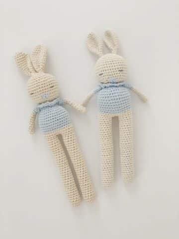 muñecos de crochet amigurumis conejos