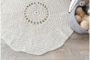 Geniales tapetes en crochet paso a paso 2 tipos de hilo