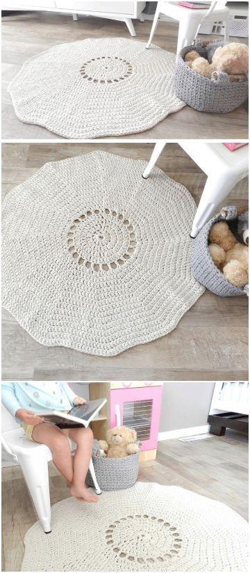 tapetes en crochet paso a paso grandes