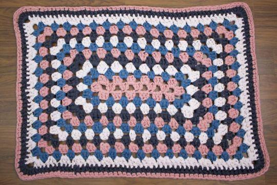tapetes en crochet paso a paso rectangular con trapillo