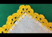 4 bonitos bordes a crochet para manteles y servilletas