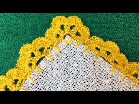bordes a crochet para manteles sencillos