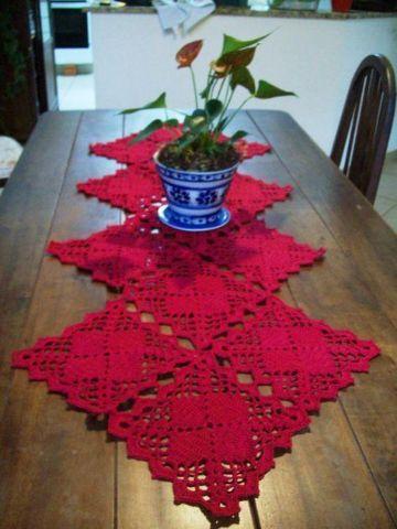 caminos de mesa a crochet faciles colores