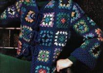 Casacas tejidas a crochet con muestras granny 2021