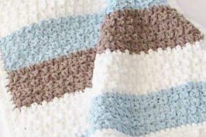 Originales cobijas para bebe tejidas en crochet 4 puntadas