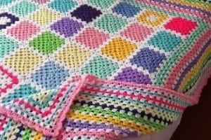 Diseño colchas al crochet paso a paso con ganchillo de 7mm