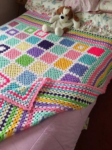colchas al crochet paso a paso con muestras
