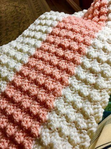 colchas al crochet paso a paso puntadas con relieves